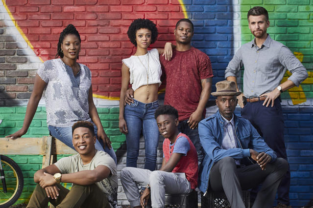 The cast of <em>The Chi</em>. (Photo: Mathieu Young/Showtime)