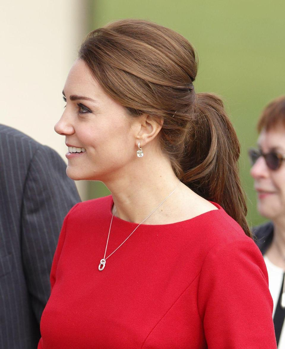 <p>The royal household recommends hairnets for women in the royal family to keep their updo's in place during royal engagements — with no fly aways in sight.</p>