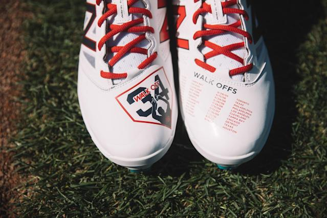 The Boston-inspired cleats from New Balance. (New Balance)