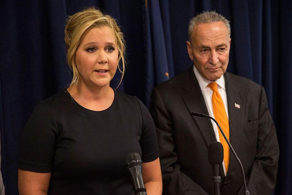<p>It turns out that comedian Amy Schumer and Senator Chuck Schumer are third cousins. In the past, he's even helped her advocate for gun control legislation. </p>