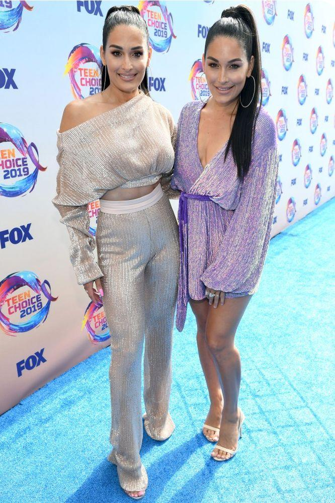 Nikki and Brie Bella at Teen Choice Awards 2019