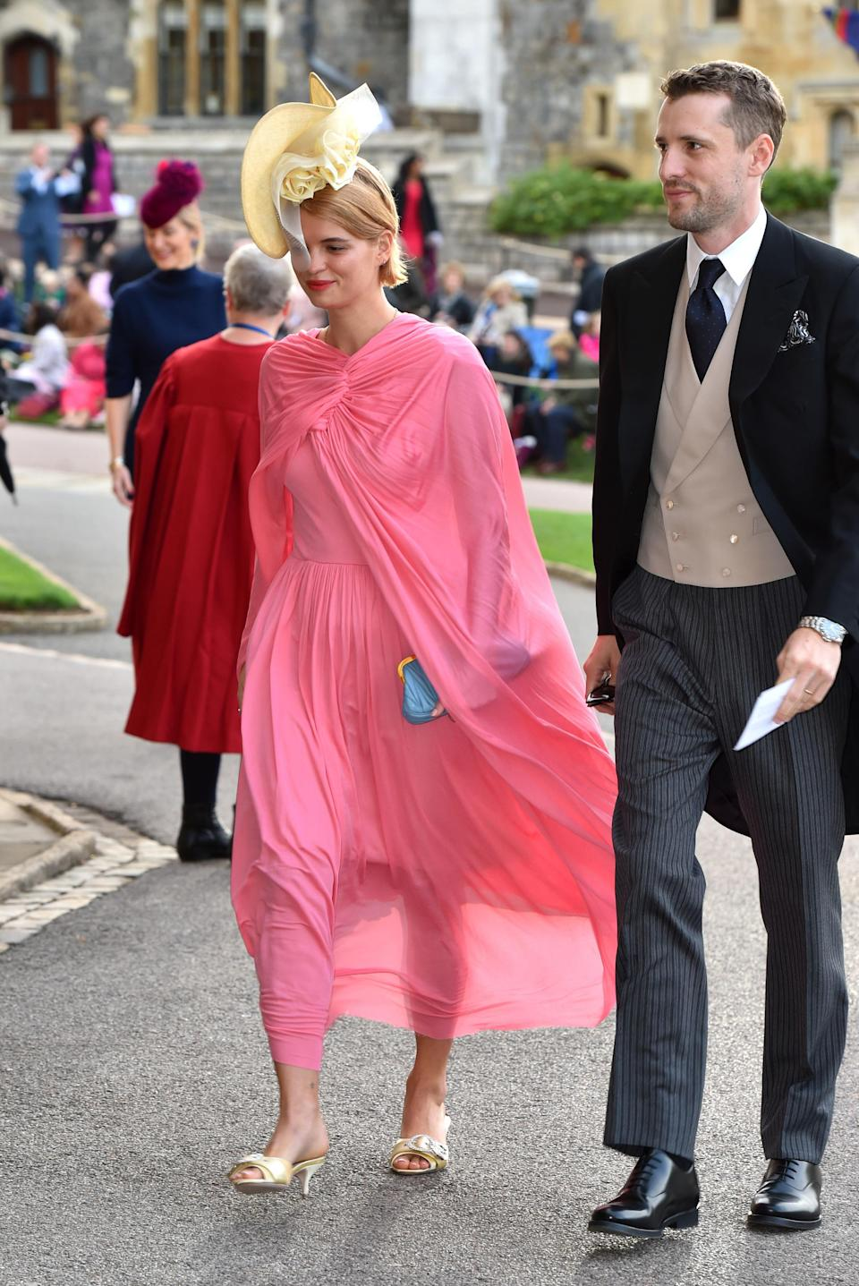 Pixie Geldof was one of the first celebrities to arrive. (Photo: Getty Images)