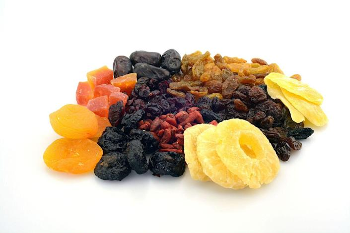 <p>Of course dried fruit is still full of nutrients, but it can be much higher in sugar than fresh fruit. Plus, certain varieties like cranberries are often dried with extra sugar added to them so they taste super sweet.</p>
