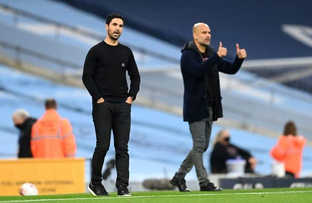 Arteta will come up against close friend and Manchester City boss Pep Guardiola on Saturday.