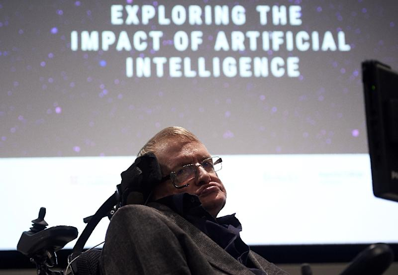 British scientist Stephen Hawking arrives to attend the launch of The Leverhulme Centre for the Future of Intelligence (CFI), at the University of Cambridge, in Cambridge, eastern England