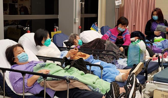 Patients at the accident and emergency unit of Queen Elizabeth Hospital in Yau Ma Tei. Photo: Edmond So