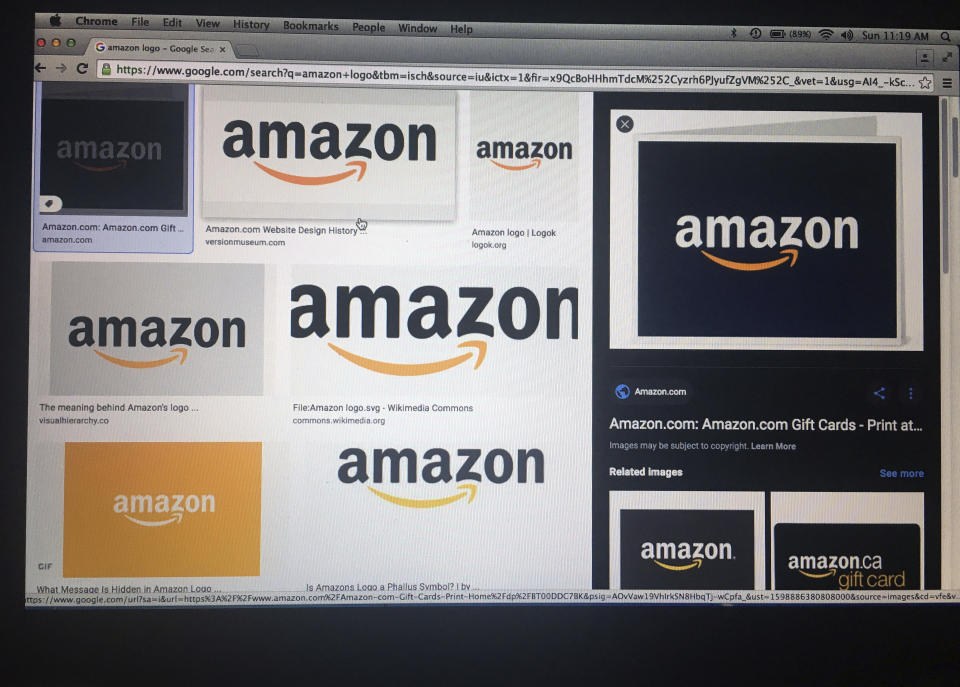 APRIL 15th 2021: Amazon Prime now has more than 200 million member subscribers, says Jeff Bezos as he prepares to step down as CEO later this year. - File Photo by: zz/STRF/STAR MAX/IPx 2020 9/5/20 Images of corporate logos are displayed online on a laptop computer. While the economy has been significantly impacted during the worldwide coronavirus pandemic, some companies - such as Amazon.com, Inc. which specializes in technology and e-commerce - have prospered.