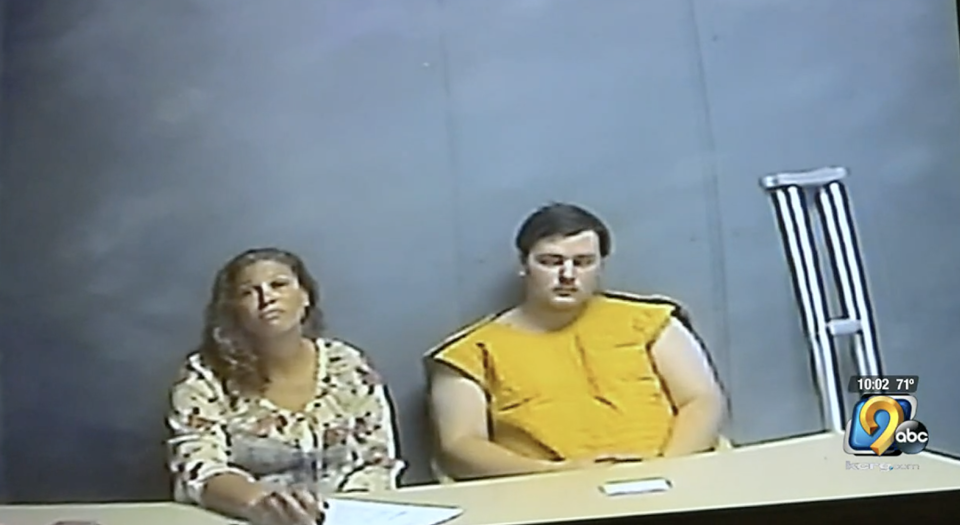 Alexander Ken Jackson at his initial court appearance via video conference with his attorney.