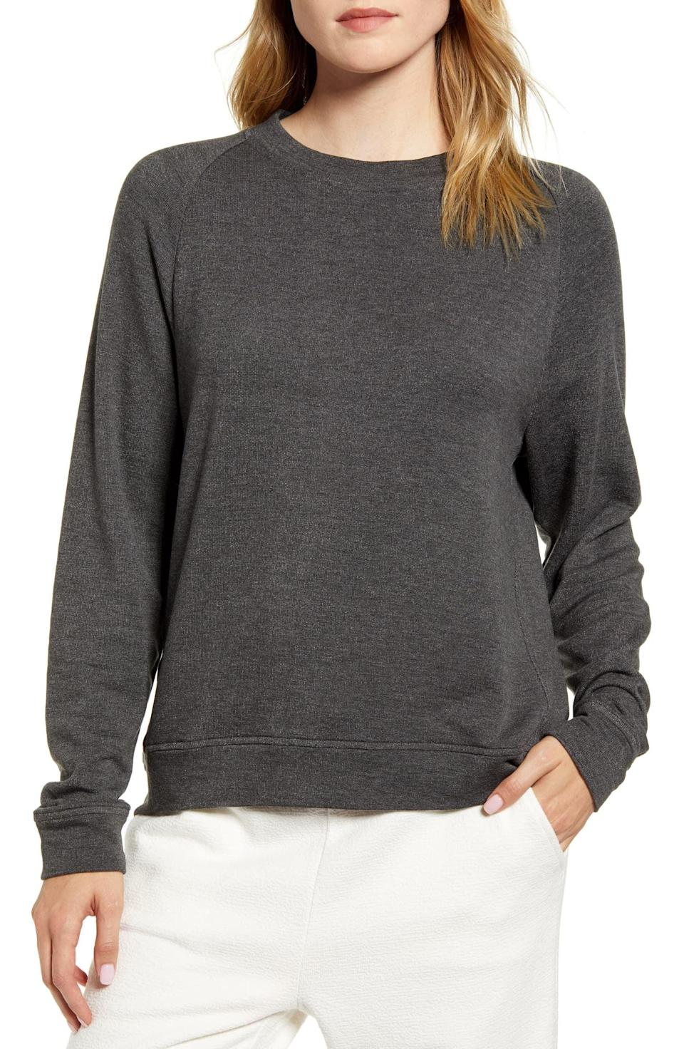 <p>This <span>Lou &amp; Grey Signature Softblend Plush Sweatshirt</span> ($70) is so cozy, you won't want to take it off.</p>