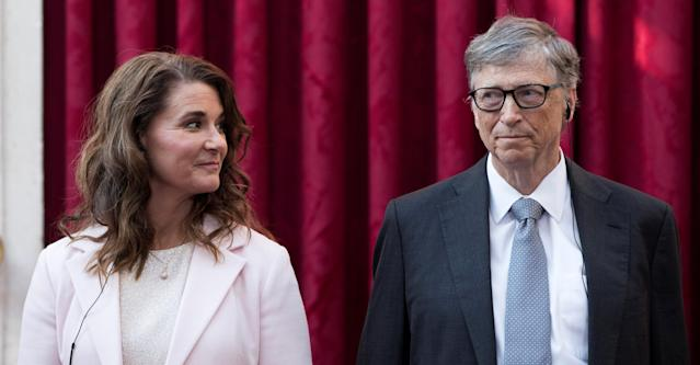 Philanthropists Melinda and Bill Gates have pledged a massive sum toward women's empowerment worldwide. This file photo of the couple was taken at the Elysee Palace in Paris, France on April 21, 2017.