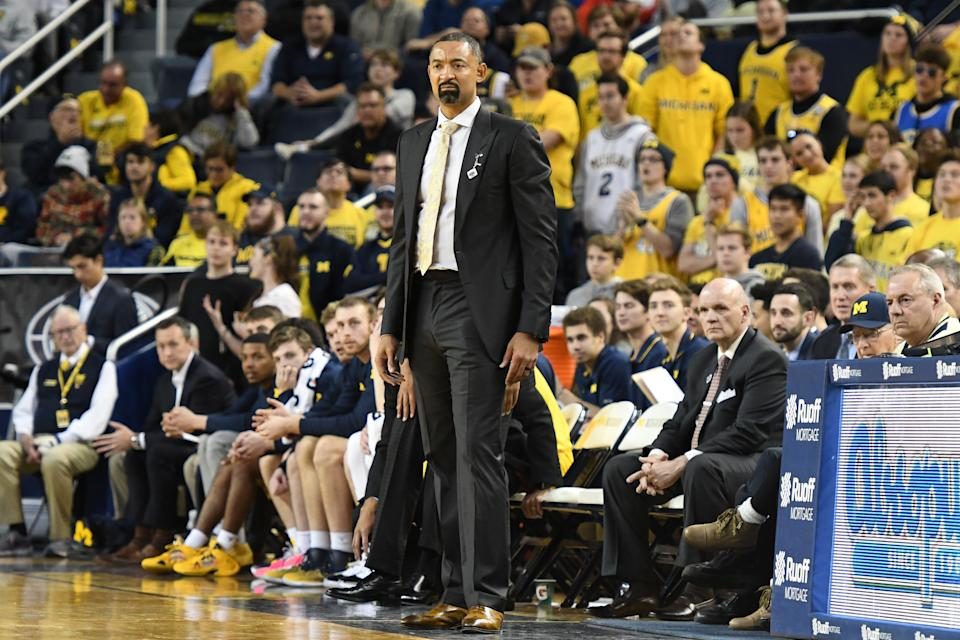 Juwan Howard led Michigan to an upset of No. 6 North Carolina on Thursday.  (Mitchell Layton/Getty Images)