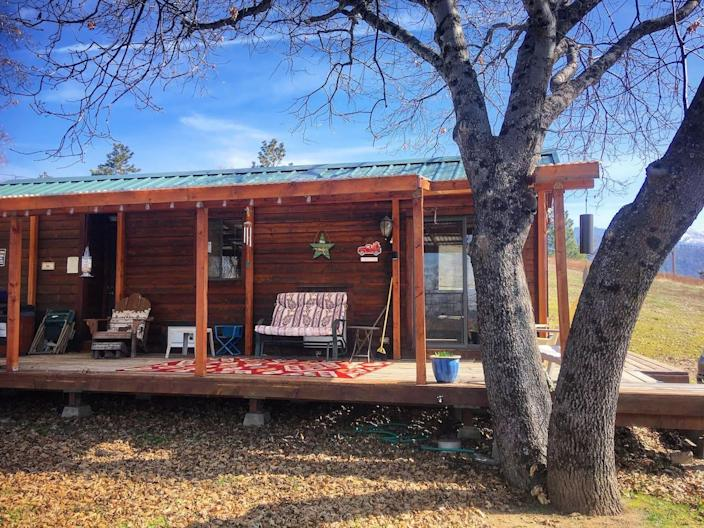 """<h2><a href=""""http://airbnb.pvxt.net/z1Z5W"""" rel=""""nofollow noopener"""" target=""""_blank"""" data-ylk=""""slk:Sleepy Raccoon Cabin"""" class=""""link rapid-noclick-resp"""">Sleepy Raccoon Cabin</a></h2><br>""""I keep both my cabins very clean for you're safety and mine so please come up and visit the parks and the big trees. The mountains are calling you, and nature lovers will love this place; watch the stars at night and listen to the frogs and crickets, ease away the tension. I am a pet-friendly cabin, I charge $25 per pet per night, Pets should not be left alone in the cabin.""""<br><br><strong>Location:</strong> Miramonte, California<br><strong>Sleeps:</strong> 2<br><strong>Price Per Night:</strong> $125"""