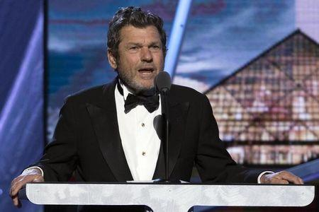 FILE PHOTO: Wenner, co-founder and publisher of Rolling Stone magazine, speaks during 29th annual Rock and Roll Hall of Fame Induction Ceremony in Brooklyn, New York