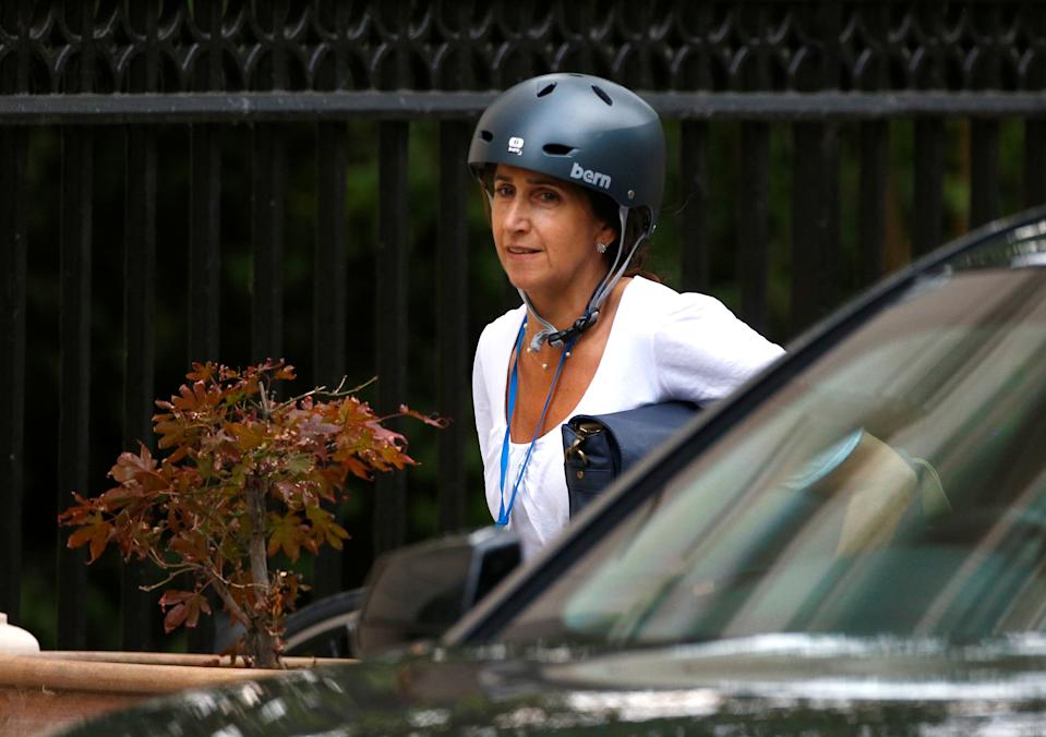 Marina Wheeler, the wife of former Secretary of State for Foreign and Commonwealth Affairs Boris Johnson, arrives in Carlton House Terrace, where they have both been living, in central London, Britain, July 9, 2018. REUTERS/Simon Dawson