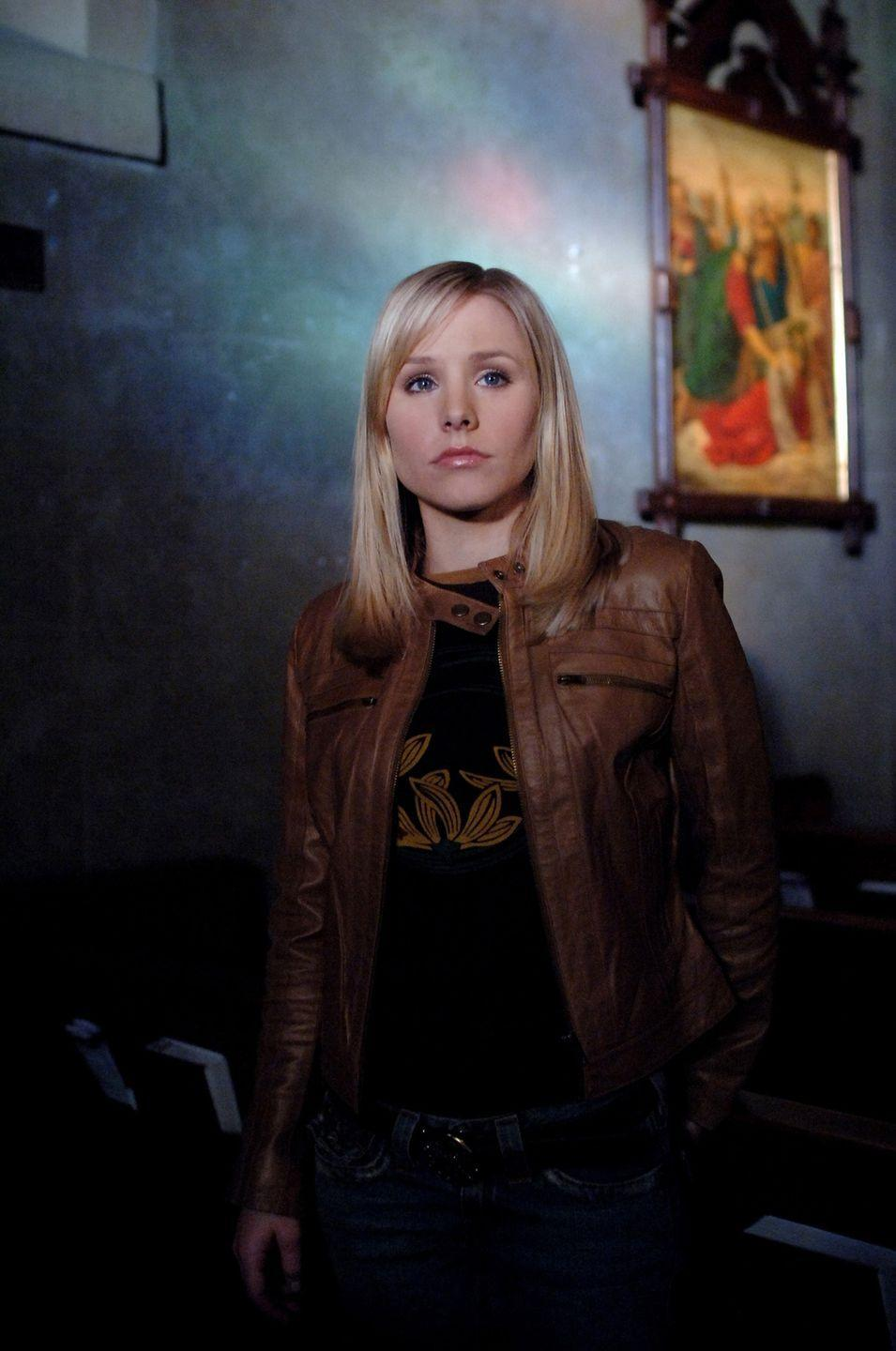 "<p>In the first episode, Veronica's friend Wallace says this iconic line: ""You're a marshmallow, Veronica Mars—a real Twinkie."" Viewers latched on to the line and started calling themselves <a href=""https://www.cheatsheet.com/entertainment/why-are-veronica-mars-fans-called-marshmallows.html/"" rel=""nofollow noopener"" target=""_blank"" data-ylk=""slk:Marshmallows"" class=""link rapid-noclick-resp"">Marshmallows</a>. You can even buy a <a href=""https://www.redbubble.com/people/chuckdragons/works/28934691-veronica-mars-shes-a-marshmallow?cat_context=u-stationery&grid_pos=16&p=sticker&rbs=81d1bd0a-825c-44db-bf33-bc66a5ecd961&ref=shop_grid&searchTerm=veronica%20mars%20marshmallow"" rel=""nofollow noopener"" target=""_blank"" data-ylk=""slk:laptop sticker"" class=""link rapid-noclick-resp"">laptop sticker</a> with the line on it. </p>"