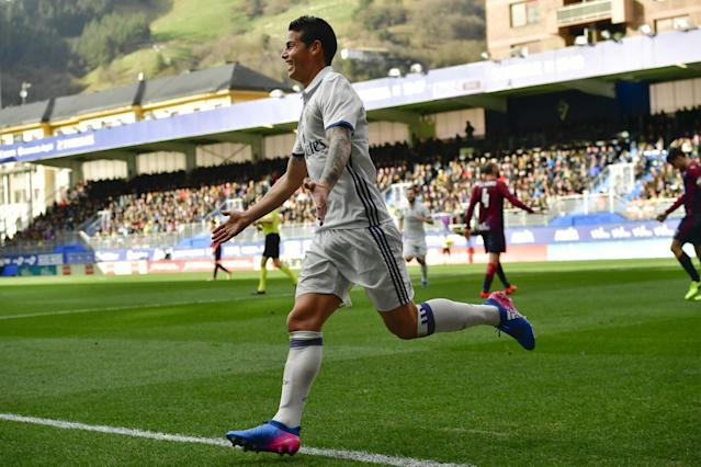 <p>James Rodríguez<br> País: Colombia<br> Adversario: FC Bayern Munich<br> Foto: AP </p>