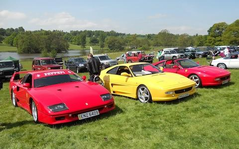 classic car show at Ripley Castle near Harrogate