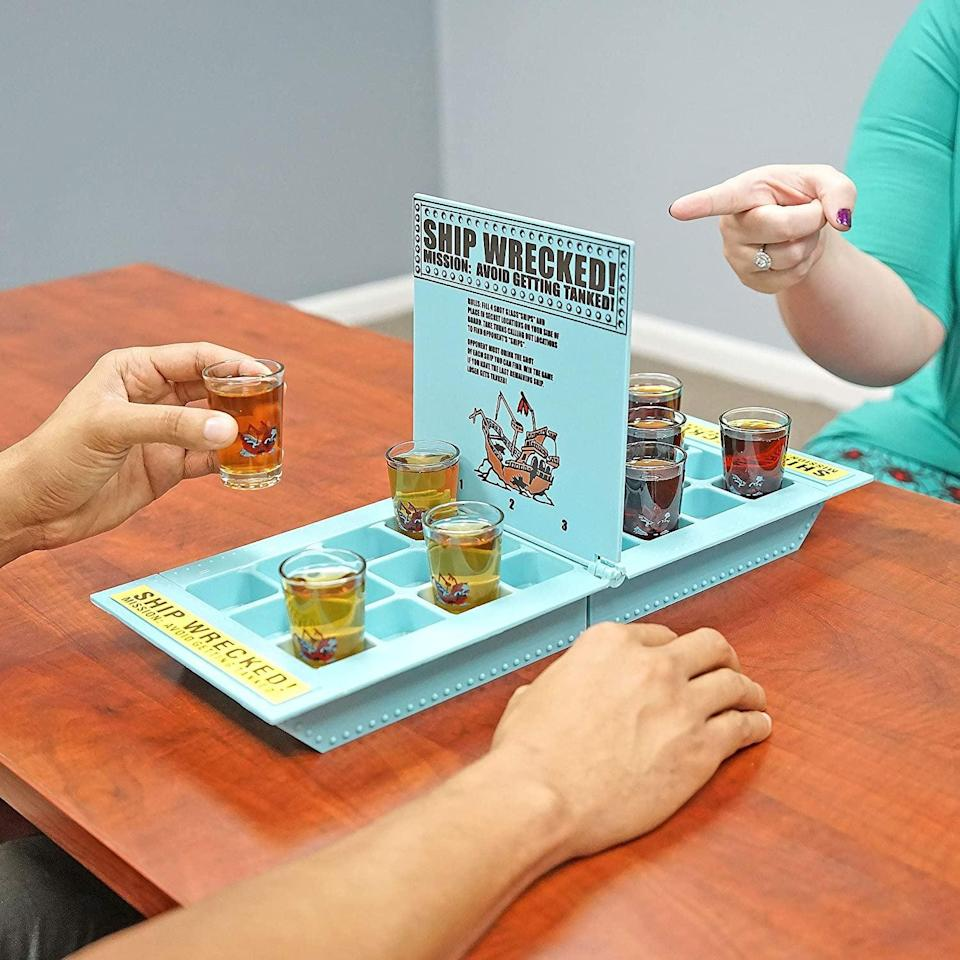 <p>Battleship is a classic family board game. Consider this <span> Fairly Odd Novelties Who Needs a Ship? Drinking Game</span> ($15, originally $20) the adult version. It'll get a laugh and a lot of use this holiday season.</p>