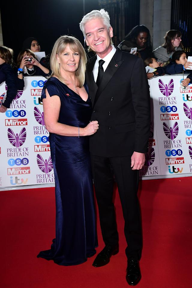 Phillip Schofield and his wife Stephanie attending The Pride of Britain Awards 2017, at Grosvenor House, London. [Photo: Getty]
