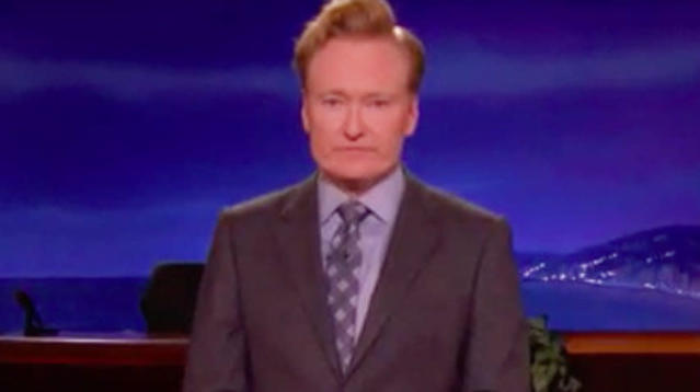 Conan O'Brien responded to news of the deadliest mass shooting in modern U.S. history with sobering perspective and a set of poignant questions.