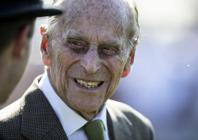 The Duke of Edinburgh is being looked after 'very well' in hospital, the Prince of Wales has said. (AP)