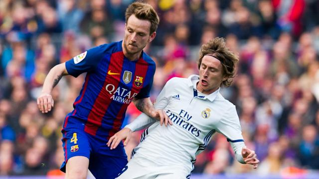 Real Madrid's match against Barcelona will see Luka Modric do battle against his close friend Ivan Rakitic.
