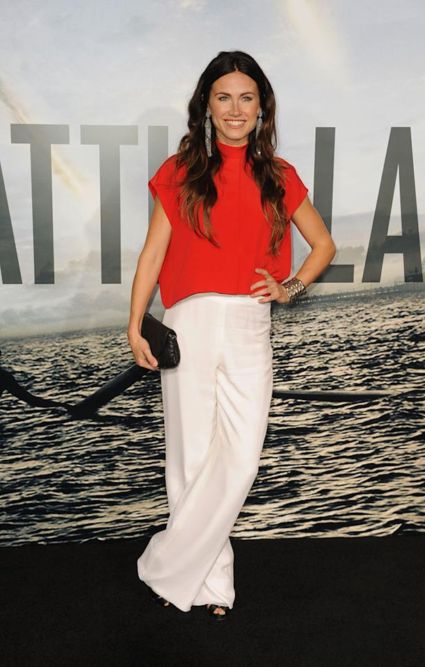 """<a href=""""http://movies.yahoo.com/movie/contributor/1809762760"""">Vail Bloom</a> at the Los Angeles premiere of <a href=""""http://movies.yahoo.com/movie/1810119633/info"""">Battle: Los Angeles</a> on March 8, 2011."""