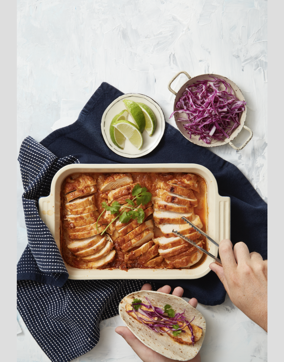 """<p>Chicken breast cooked in a homemade peanut sauce will make this <a href=""""https://www.goodhousekeeping.com/food-recipes/g3463/cinco-de-mayo-taco-recipes/"""" rel=""""nofollow noopener"""" target=""""_blank"""" data-ylk=""""slk:Taco Tuesday"""" class=""""link rapid-noclick-resp"""">Taco Tuesday</a> unforgettable.</p><p><em><a href=""""https://www.goodhousekeeping.com/food-recipes/easy/a35261/smoky-peanut-chicken-tacos/"""" rel=""""nofollow noopener"""" target=""""_blank"""" data-ylk=""""slk:Get the recipe for Smoky Peanut Chicken Tacos »"""" class=""""link rapid-noclick-resp"""">Get the recipe for Smoky Peanut Chicken Tacos »</a></em></p>"""