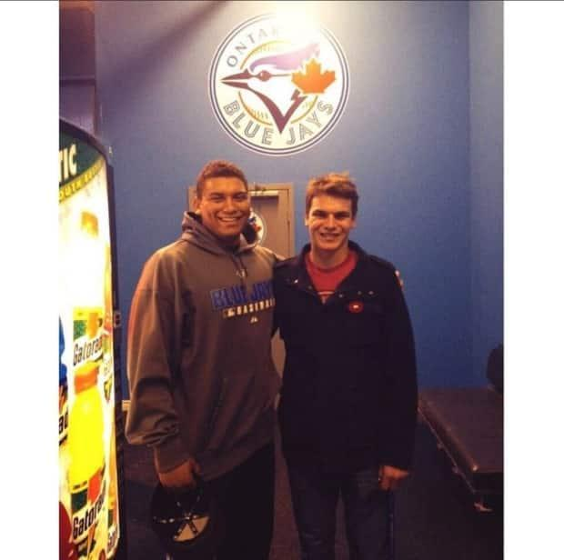 Naylor and his friend Conner Morro when the two were teammates with the Ontario Blue Jays.