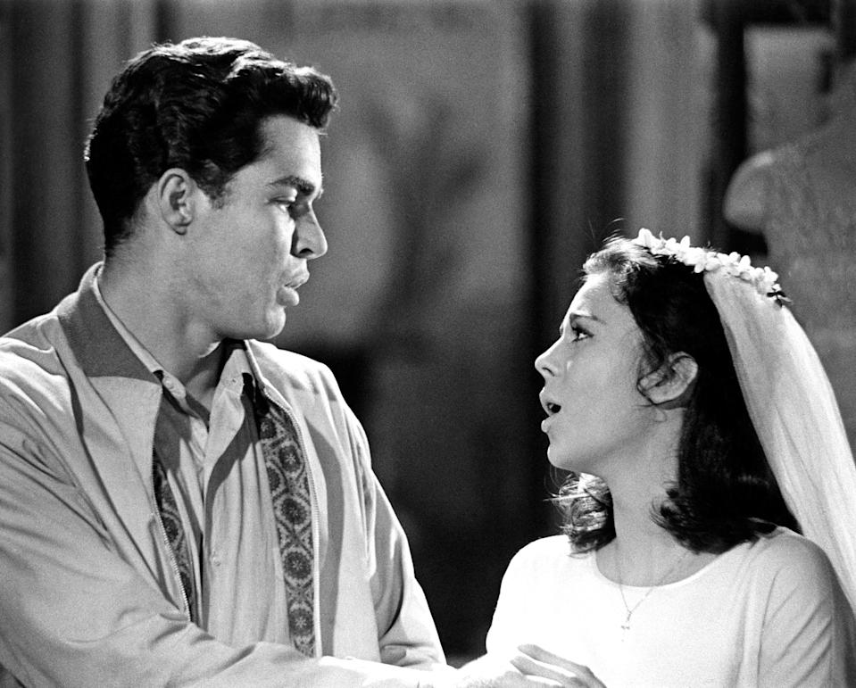 """Richard Beymer and Natalie Wood in """"West Side Story"""""""