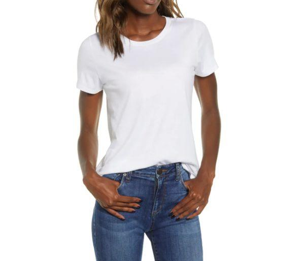 """This <a href=""""https://fave.co/3klRTMn"""" target=""""_blank"""" rel=""""noopener noreferrer"""">BP.Crewneck T-Shirt</a>is available in five colors and sizes XXS to XL. Find it <a href=""""https://fave.co/3klRTMn"""" target=""""_blank"""" rel=""""noopener noreferrer"""">on sale for $8</a> (normally $12) at Nordstorm."""