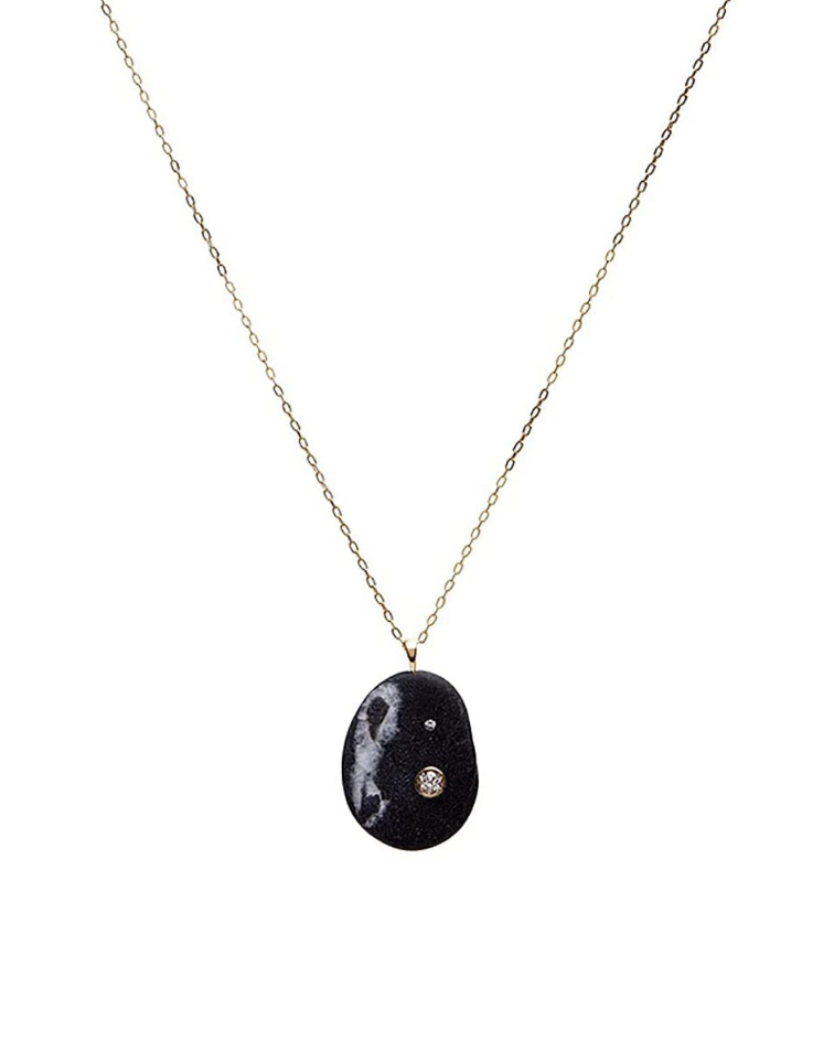 """<p><em>CVC Stones Noche Necklace, $3,280</em></p><p><a class=""""link rapid-noclick-resp"""" href=""""https://www.amazon.com/dp/B0921H1JLY/ref=cm_sw_r_cp_api_glt_fabc_G5DBN3BYA5BQACC1KWGB?tag=syn-yahoo-20&ascsubtag=%5Bartid%7C10056.g.36320745%5Bsrc%7Cyahoo-us"""" rel=""""nofollow noopener"""" target=""""_blank"""" data-ylk=""""slk:SHOP NOW"""">SHOP NOW</a></p><p>Refinement meets rough in CVC Stones, where diamonds are set in organic stones plucked from beaches around the globe. Its understated glamour is a favorite with fashion insiders. </p>"""