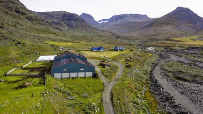 Cattle farm in the Narsaq Valley in southern Greenland close to where Australian-listed company Greenland Minerals wants to build a mine for rare earths