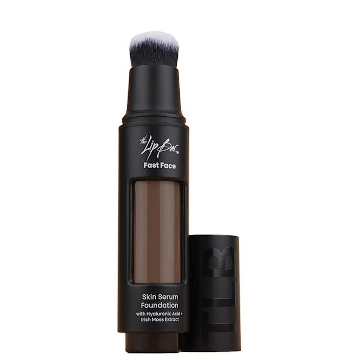 """""""I love this light-to-medium, buildable [coverage] serum-foundation that makes skin feel and look good,"""" Sheriff explains. Powerhouse skin-care ingredients, like <a href=""""https://www.allure.com/story/what-is-hyaluronic-acid-skin-care?mbid=synd_yahoo_rss"""" rel=""""nofollow noopener"""" target=""""_blank"""" data-ylk=""""slk:hyaluronic acid"""" class=""""link rapid-noclick-resp"""">hyaluronic acid</a> and Irish Sea Moss extract, are infused into the dewy <a href=""""https://www.allure.com/story/the-lip-bar-fast-face-makeup-collection?mbid=synd_yahoo_rss"""" rel=""""nofollow noopener"""" target=""""_blank"""" data-ylk=""""slk:TLB Fast Face Skin Serum Foundation"""" class=""""link rapid-noclick-resp"""">TLB Fast Face Skin Serum Foundation</a> formula. It comes with a built-in brush for quick on-the-go application — just twist the knob to dispense, swipe across your face, and you're done. $28, TLB. <a href=""""https://thelipbar.com/collections/skin-serum-foundation"""" rel=""""nofollow noopener"""" target=""""_blank"""" data-ylk=""""slk:Get it now!"""" class=""""link rapid-noclick-resp"""">Get it now!</a>"""