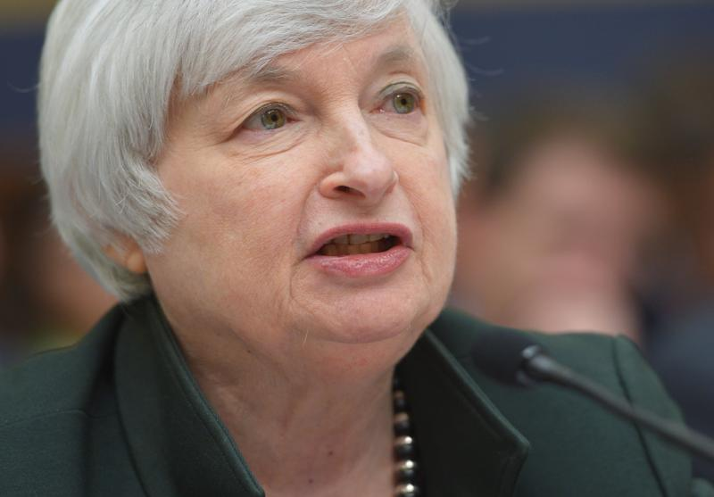 Federal Reserve Chair Janet Yellen testifies before the House Financial Services Committee on monetary policy and the state of the economy on July 16, 2014 in the Rayburn House Office Building on Capitol Hill in Washington, DC (AFP Photo/Mandel Ngan)