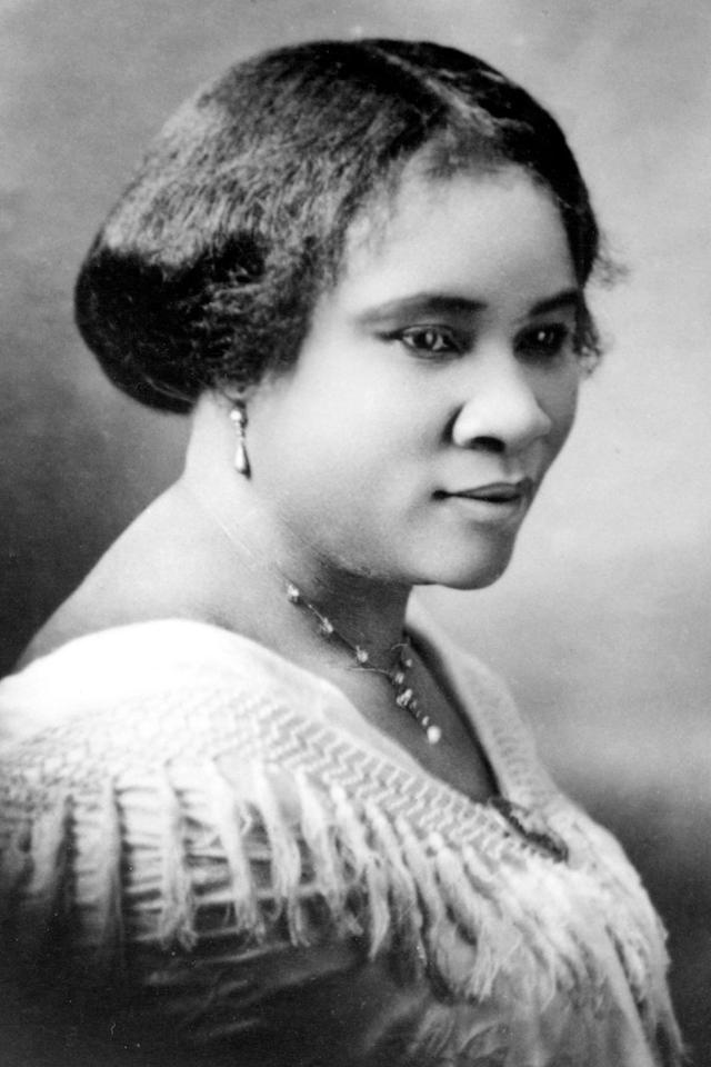 <p>Madam Walker, a business woman and entrepreneur, was the richest self-made woman in America at the time of her death in 1919. She earned her wealth through a company that sold cosmetics and haircare products for black women. </p>