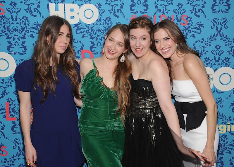 Zosia Mamet, Jemima Kirke, producer Lena Dunham and Allison Williams