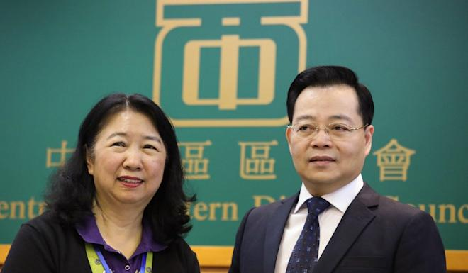 Central and Western District Council chairwoman Cheng Lai-king and vice-chairman Victor Yeung were appointed uncontested. Photo: Nora Tam