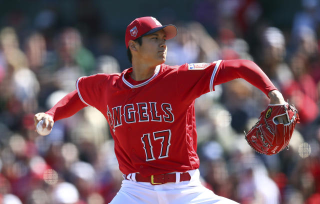 Shohei Ohtani will make his pitching debut Sunday. (AP)