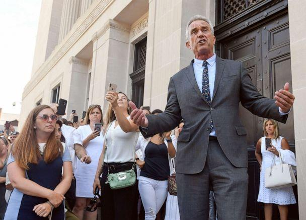 PHOTO: Attorney Robert F. Kennedy, Jr. speaks after a hearing challenging the constitutionality of the state legislature's repeal of the religious exemption to vaccination on behalf of New York state families who held lawful religious exemptions. (Hans Pennink/AP Photo)