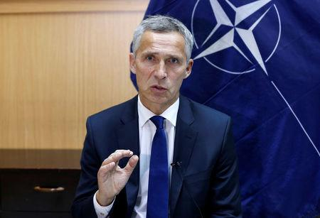 NATO Secretary-General Jens Stoltenberg speaks during an interview in Kabul, Afghanistan