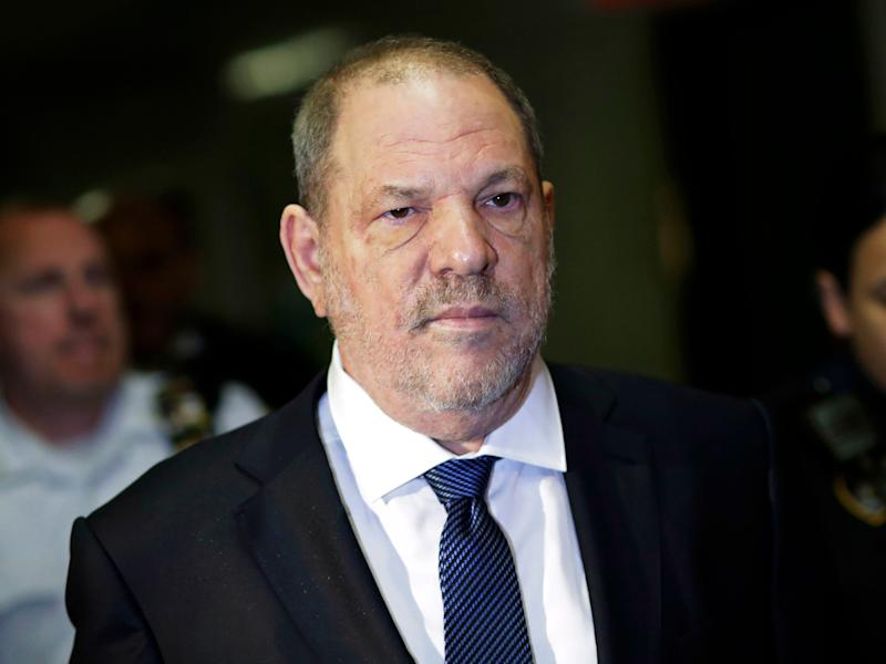 Harvey Weinstein enters State Supreme Court in New York, Oct. 11, 2018.