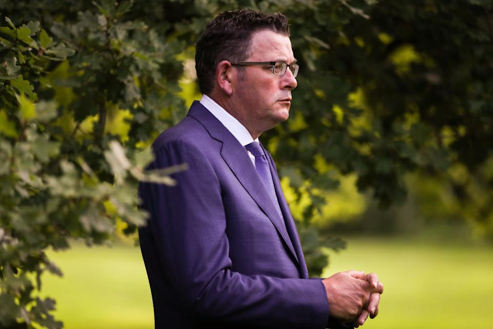 Premier Daniel Andrews is now facing a decision whether to force Melbourne into yet another lockdown. Source: Getty