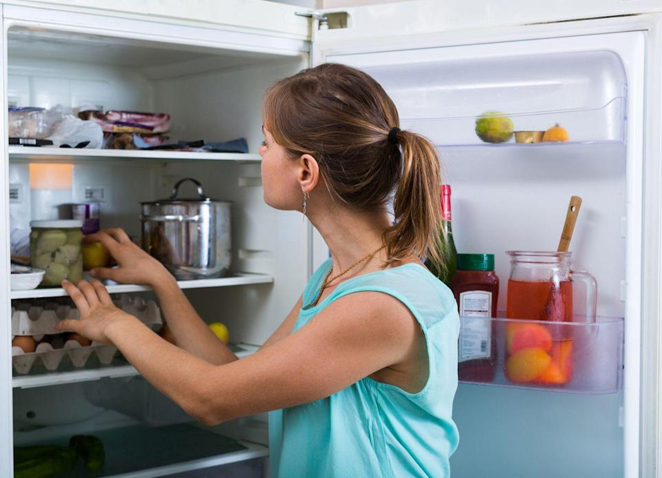 """<p>Toss foods with inflammation-triggering hydrogenated oils, as well as any food that contains more than six grams of added sugar per serving. Then, """"organize your refrigerator with the healthiest foods in front,"""" says Sarah Mirkin, RDN, author of <em>Prevention</em>'s <em><a href=""""https://www.shopetc.com/fillyourplate"""" rel=""""nofollow noopener"""" target=""""_blank"""" data-ylk=""""slk:Fill Your Plate, Lose the Weight"""" class=""""link rapid-noclick-resp"""">Fill Your Plate, Lose the Weight</a> </em>(available in April). """"Most people will open the refrigerator and grab the first thing they see. That's called the 'see-food' diet. Protein- and fiber-rich foods should be the first thing you see.""""</p>"""