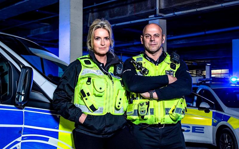Penny Lancaster andSgt Rory Thompson - ©RYAN MCNAMARA 2018 (Channel 4 images must not be altered or manipulated in any way) CHANNEL 4 P