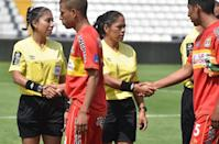 World football body FIFA has 720 women registered as referees for professional football games -- 324 main referees and 396 assistants (AFP Photo/Cris Bouroncle)