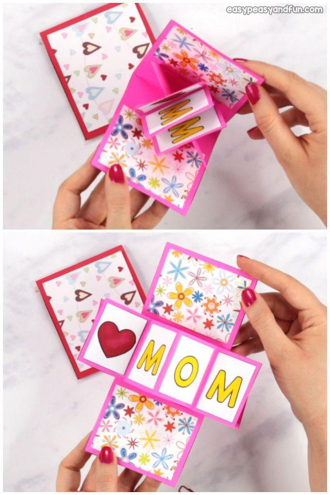 """<p>This card might seem difficult to make but you'll be surprised by just how simple it is. Mom will love the surprise inside!</p><p><strong>Get the tutorial at <a href=""""https://www.easypeasyandfun.com/twist-and-pop-mothers-day-card/"""" rel=""""nofollow noopener"""" target=""""_blank"""" data-ylk=""""slk:Easy Peasy and Fun"""" class=""""link rapid-noclick-resp"""">Easy Peasy and Fun</a>. </strong></p><p><a class=""""link rapid-noclick-resp"""" href=""""https://www.amazon.com/Crayola-Scents-Amazon-Exclusive-Markers/dp/B07VCG365B?tag=syn-yahoo-20&ascsubtag=%5Bartid%7C2164.g.35668391%5Bsrc%7Cyahoo-us"""" rel=""""nofollow noopener"""" target=""""_blank"""" data-ylk=""""slk:SHOP MARKERS"""">SHOP MARKERS</a></p>"""