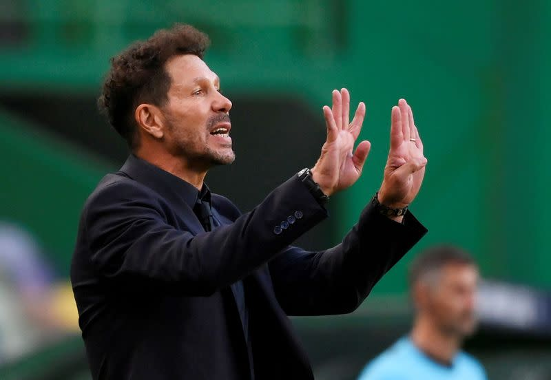 Atletico coach Simeone tests positive for coronavirus