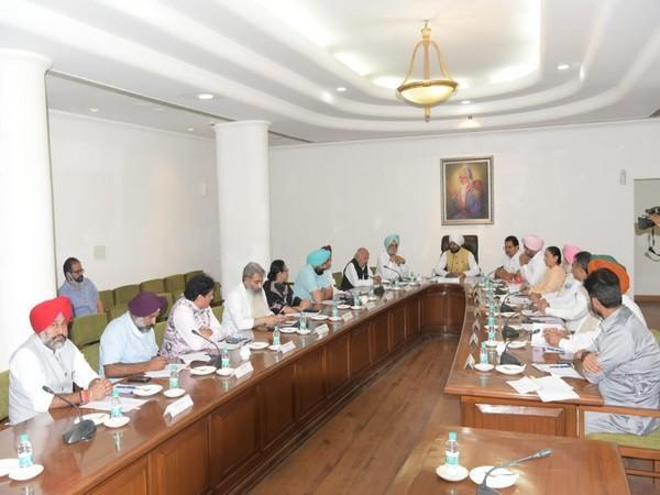 Punjab CM Charanjit Singh Channi convening meeting with Council of Ministers (photo/ANI)