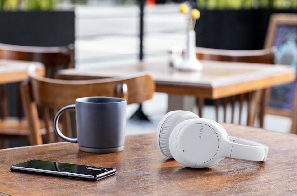 Save $120 on the Sony Over-Ear Noise Cancelling Bluetooth Headphones. Image via Best Buy.